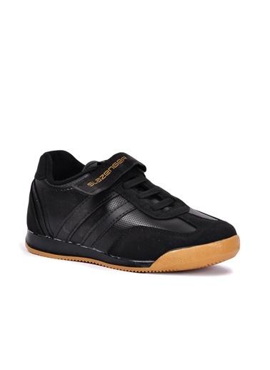 Slazenger Axel Siyah Çocuk Spor Ayakkabı Siyah
